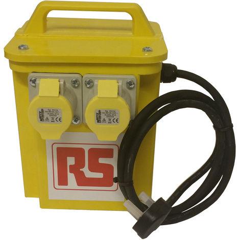 """main image of """"Transformateur d'isolement portable 3.3kVA, primaire 230V ac, secondaire 110 (55V-0V-55V)V, 2 x 16A"""""""
