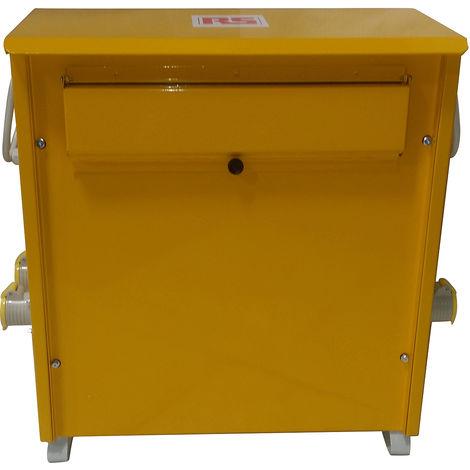 Transformateur d'isolement portable 3.3kVA, primaire 230V ac, secondaire 110 (55V-0V-55V)V, 2 x 16A