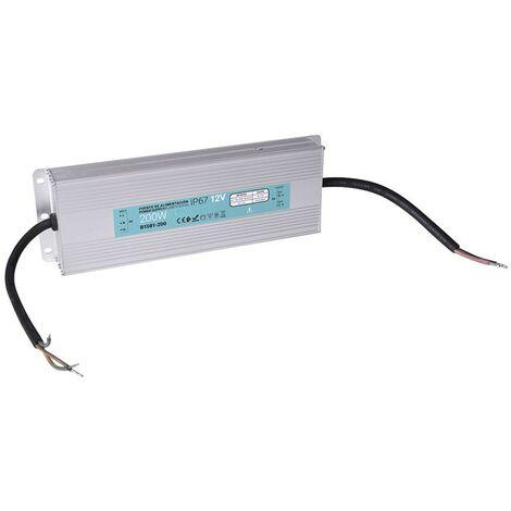 Transformateur étanche 200W 12V DC 16.6A IP67