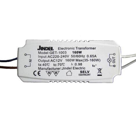 Transformateur Halogène AC220-240V / AC12V Jindel GET-1003 160W - Blanc