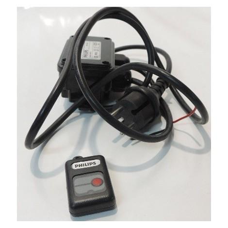 Transformateur LED telecommandé IR avec boîtier IP65 pour luminaire LED 230V/9V DC 3.5VA 15 spots max EBC211 PHILIPS 809427