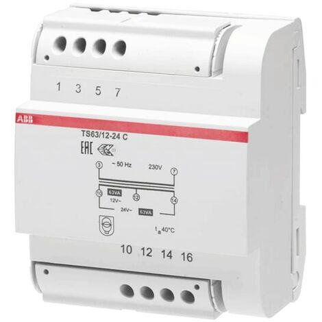 Transformateur Modulaire ABB TS63/12-24 63VA 12-24V M429287