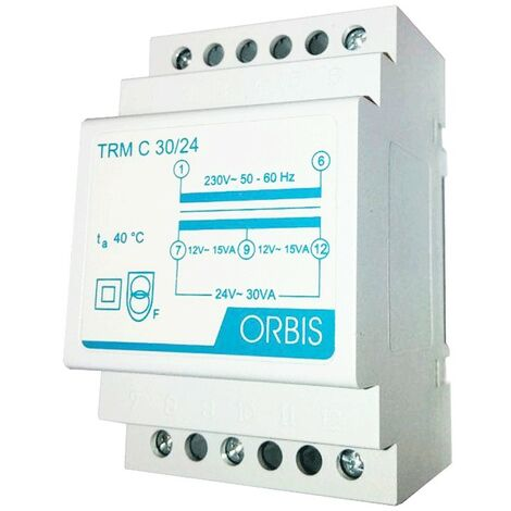 Transformateur modulaire Orbis 30VA 230V / 12-24V AC OB86C3024