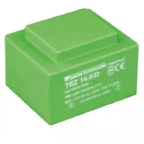 Transformateur monophasé TEZ 0,5/D 230/ 9-9V pour circuits imprimés, encapsulé