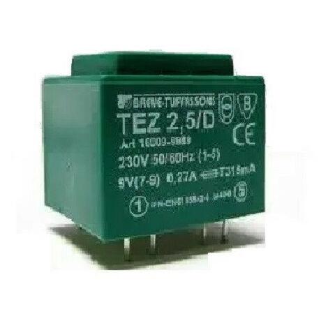Transformateur monophasé TEZ 2,5/D 230/ 7,5V pour circuits imprimés, encapsulé
