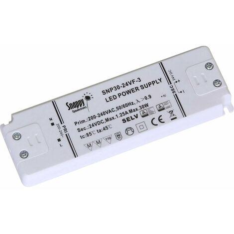 Transformateur pour LED à tension constante Dehner Elektronik Snappy SE30-12VL Snappy SE30-12VL 30 W 0 - 2.5 A 12 V/DC