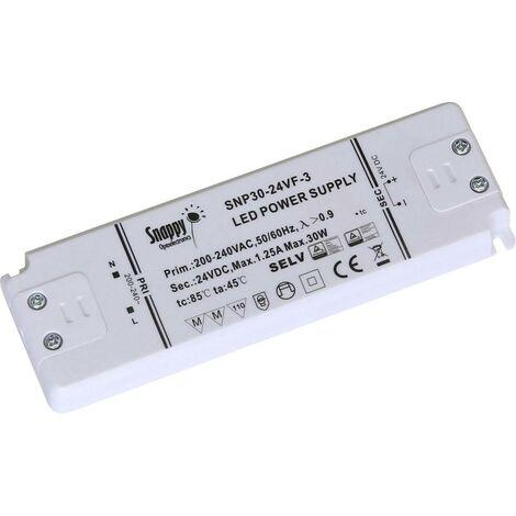 Transformateur pour LED à tension constante Dehner Elektronik Snappy SE30-24VL Snappy SE30-24VL 30 W 0 - 1.25 A 24 V/DC