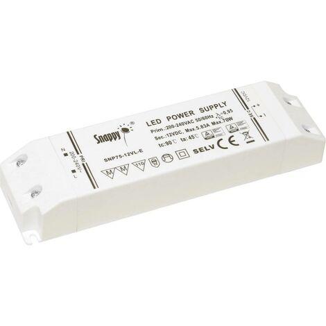Transformateur pour LED à tension constante Dehner Elektronik Snappy SNP75-12VL-E Snappy SNP75-12VL-E 75 W 0 - 5.83 A 1