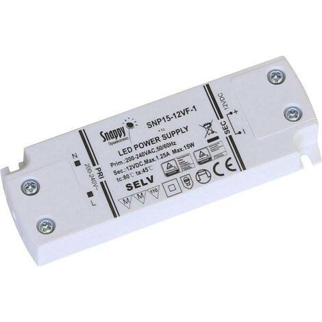 Transformateur pour LED à tension constante Dehner Elektronik SNP15-12VF-1 27652 15 W 0 - 1.25 A 12 V/DC 1 pc(s)