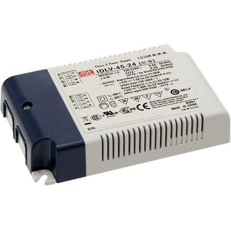 Transformateur pour LED à tension constante Mean Well IDLV-45A-12 IDLV-45A-12 36 W 0 - 3 A 12 V/DC 1 pc(s)