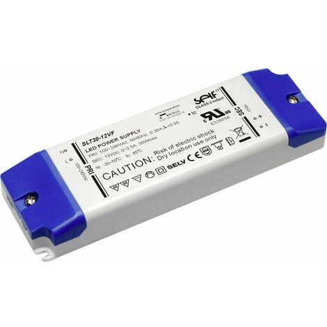 Transformateur pour LED à tension constante Self Electronics SLT30-12VFG SLT30-12VFG 30 W 0 - 2.5 A 12 V/DC 1 pc(s)
