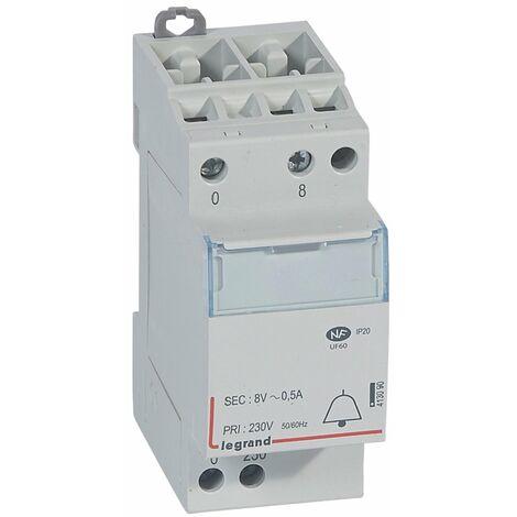 Transformateur pour sonnerie - 230 V / 8 V - 4 VA