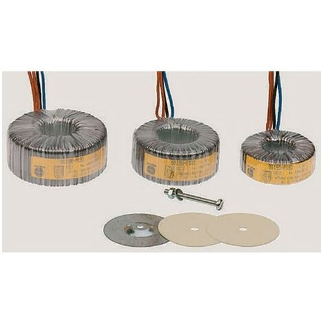 Transformateur torique 2 sorties, Vin 2 x 115V ac, Vout 2 x 12V ac, 100VA