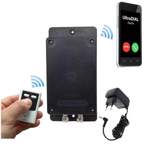 Transmetteur GSM 100% autonome UltraDIAL 2G+3G étanche tout terrain 1 entrée filaire + télécommande + transfo (gamme BT)