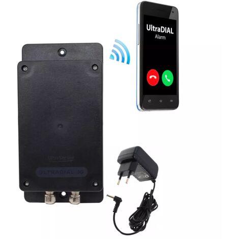 Transmetteur GSM 100% autonome UltraDIAL 2G+3G étanche tout terrain 1 entrée filaire + transfo (gamme BT)