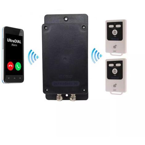 Transmetteur GSM 100% autonome UltraDIAL 2G+3G étanche tout terrain avec 1 entrée filaire et 2 télécommandes (gamme BT)