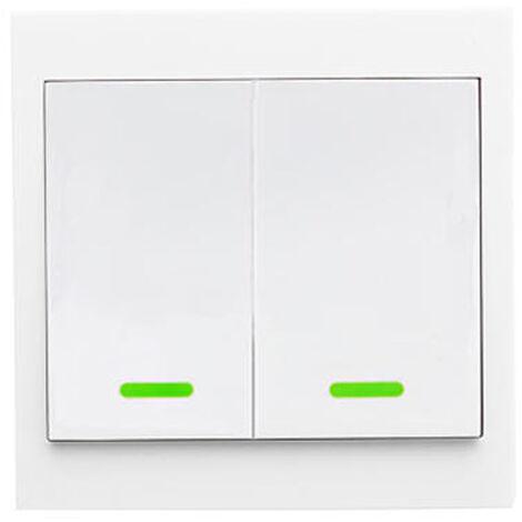 Transmetteur Sans Fil A Distance Rf Post-It Smartswitch Intelligente Pour La Chambre Home Living Chambre 433Mhz 86 Panneau Mural Commutateurs, 2 Channel