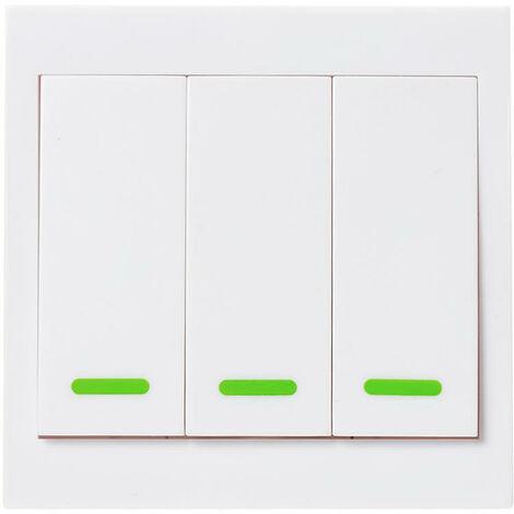 Transmetteur Sans Fil A Distance Rf Post-It Smartswitch Intelligente Pour La Chambre Home Living Chambre 433Mhz 86 Panneau Mural Commutateurs, 3 Channel