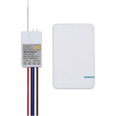 Transmisor de interruptor inalambrico AC 180 ~ 275V, controlador de receptor de interruptor, sin cableado