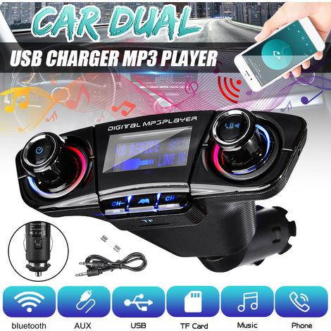Transmisor FM bluetooth Reproductor de MP3 para automóvil Kit de adaptador de radio bluetooth Cargador USB