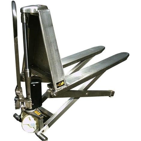 Transpalette inox haute levée manuel (plusieurs tailles disponibles)