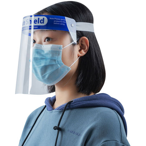 Transparent Protective Face Shield Anti-Fog Windproof Dustproof Anti-Splash Outdoors Kitchen Face Protection