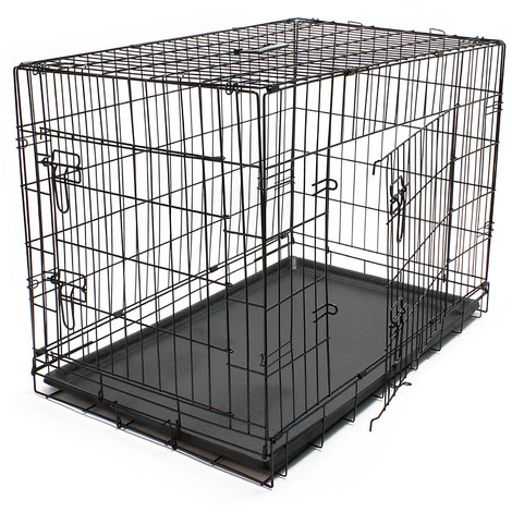 Transport cage dog kennel Wire cage Transport box foldable L