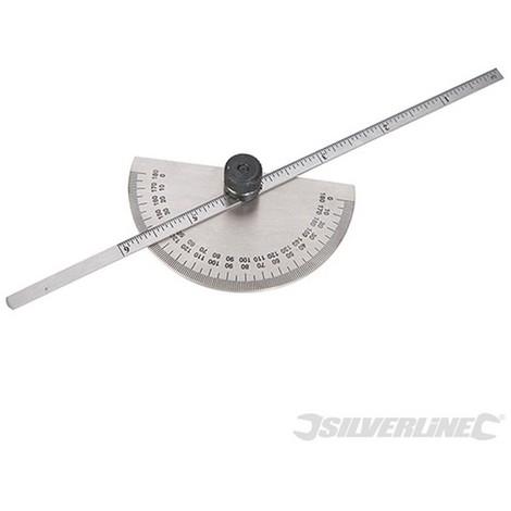 Transportador de ángulos con galga de profundidad (150 mm)