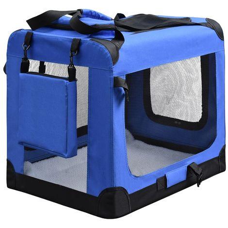 Transportbox Hundetransportbox Hundebox Tierbox Faltbar Autobox Tragbar S - XXL