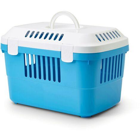 Transportín Discovery 1 tamaño pequeño para mascotas | Transportín de plástico con abertura superior | Transportín perros, gatos y roedores