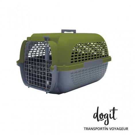 Transportín DOGIT Pet Voyaguer Carrier Tamaño L - Verde /Gris