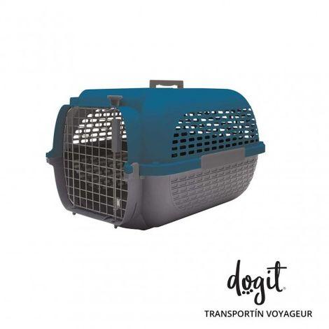 Transportín DOGIT Pet Voyaguer Carrier Tamaño M - Azul /Gris