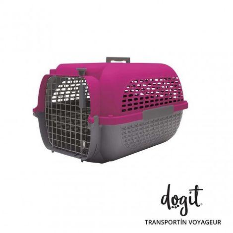 Transportín DOGIT Pet Voyaguer Carrier Tamaño M - Fucsia /Gris