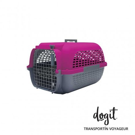 Transportín DOGIT Pet Voyaguer Carrier Tamaño S - Fucsia /Gris