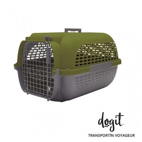 Transportín DOGIT Pet Voyaguer Carrier Tamaño XL - Verde /Gris