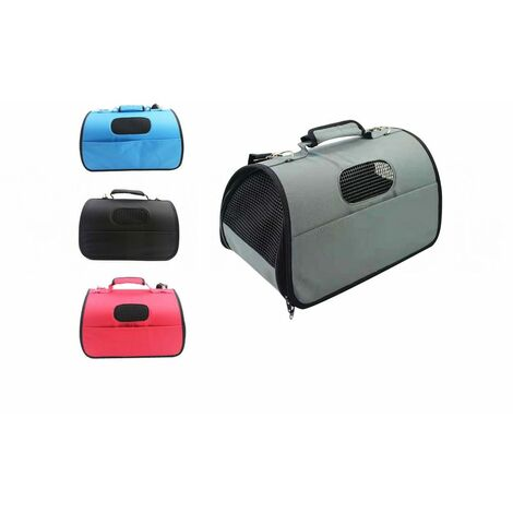 Transportín Impermeable para Mascotas, Varios Colores - M: 44 x 25 x 25 Cm, Gris