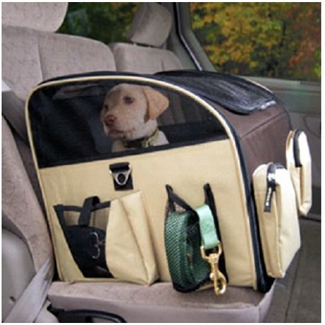 Transportín para automóviles para perros para gatos 42 x 36 x 33 cm