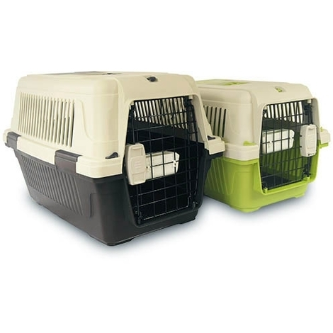 Transportin para perros IBÁÑEZ DELUXE I IATA medidas 56x35x35 cm incluye bebedero / comedero