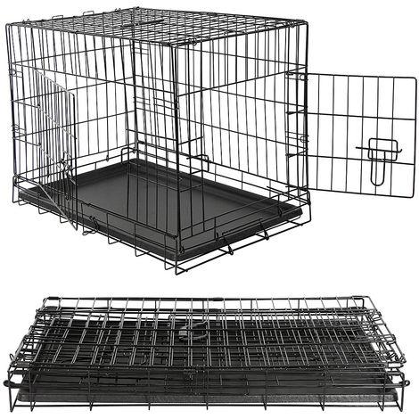 Transportin para perros Jaula de alambre plegable para perros caja de transporte para mascotas bolsa de transporte Caja de transporte