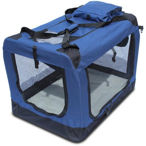 Transportin para perros plegable Yatek de entradas laterales y superiores con alta visibilidad, confort y seguridad para tu mascota, varios tamaños