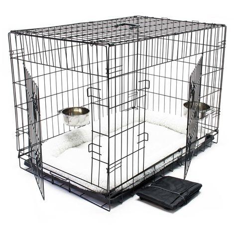 Transportín plegable animales L 107x69x75.5cm Set completo Perros Gatos Capazo Cama acolchada
