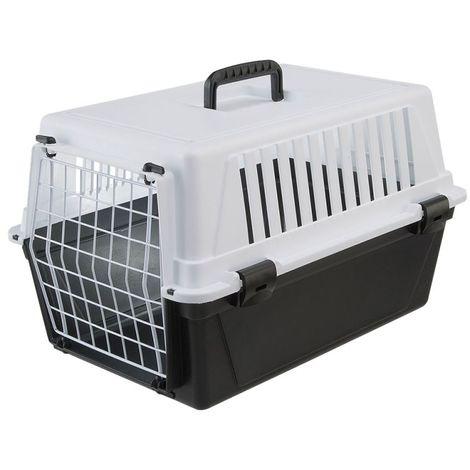 Transportín Trotter para mascotas Transportín con puerta de metal PARA PERROS PARA GATOS B 32,5 x T 48 x H 29 cm