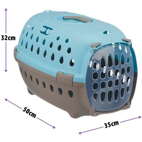 Transportín Trotter para mascotas Transportín con puerta de metal PARA PERROS PARA GATOS L 35 x T 50 × H 32 cm