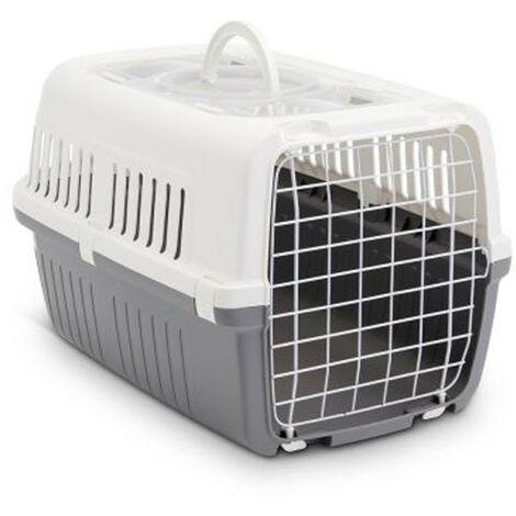 Transportín Zephos para mascotas hasta 5 kg | Transportín con puerta de metal | Transportín perros y gatos