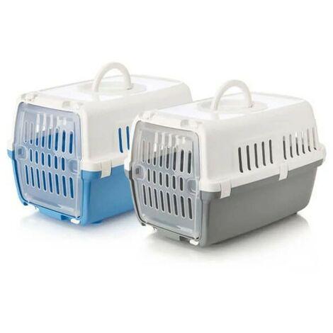 Transportín Zephos para mascotas hasta 5 kg | Transportín con puerta de plástico | Transportín perros y gatos