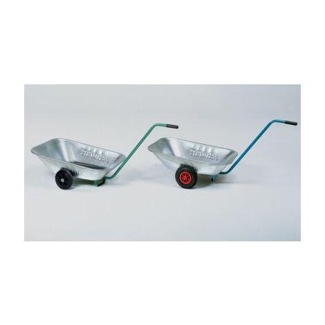 Transportwanne - Luftgummiräder 200 x 50 mm, Kunststoff Schubkarren Einradkarren