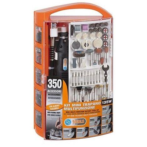 TRAPANO MINI MULTIFUNZIONE IN KIT 135 W con 350 accessori