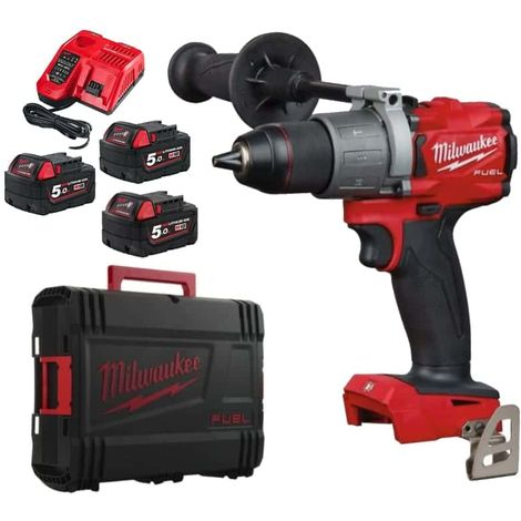 Trapano Trapano a vite Trapano MILWAUKEE Brushless M18 BLDDD2-502X - 2 batterie 18V 5.0Ah - 1 caricabatterie 4933464515