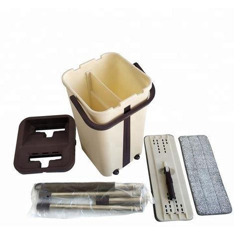 Trapeador plano y trapeador manual de microfibra para limpiar suelos