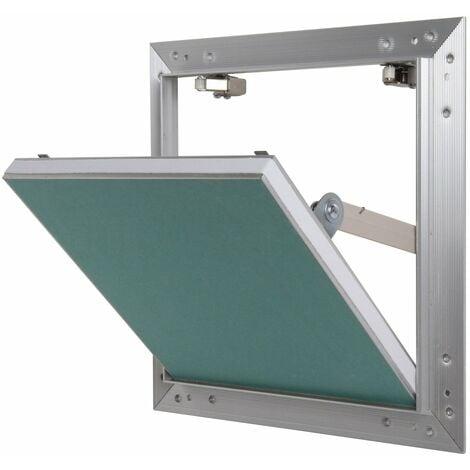 Trappe de visite alu hydro Semin - 500 mm x 500 mm x 12.5 mm - ouverture poussez/lâchez - pièces humides - accès aux gaines techniques et conduites - murs et plafonds